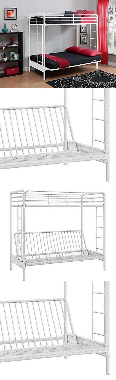 Bedroom Furniture 66742: Dhp Twin Over Futon Metal Bunk Bed, White -> BUY IT NOW ONLY: $201.21 on eBay!