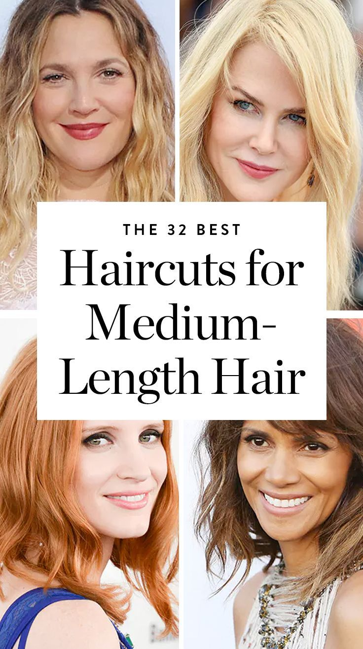 best mediumlength hairstyles images on pinterest