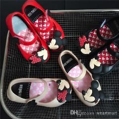 [ $29 OFF ] Cute Kids Girls Beach Sandals Mickey Minnie Mini Melissa Shoes Baby Children Footwear Candy Smell Shoes 10Pcs/lot Wholesale