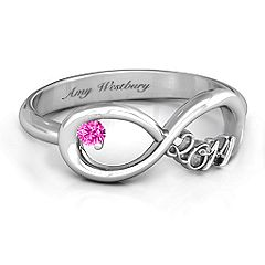 2014 Infinity Ring #jewlr Class ring for my girl child