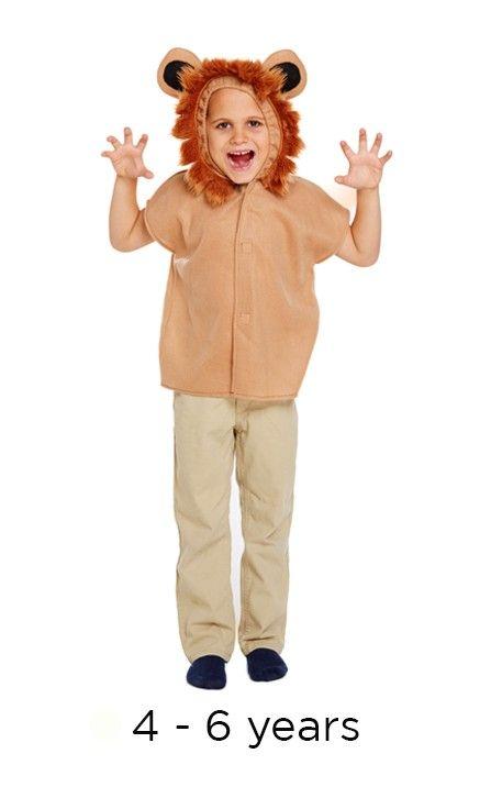 Children's Lion Animal Fancy Dress Costume 4 - 6 yrs