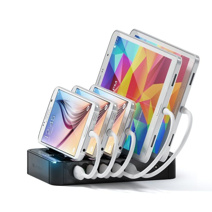 The Satechi 5-Port USB Charger allows you to charge up to five devices simultaneously via USB ports.