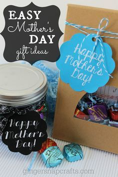 Easy Mother's Day Gift Ideas with DOVE® Dark Chocolate (free printables) #SharetheDOVE #spon
