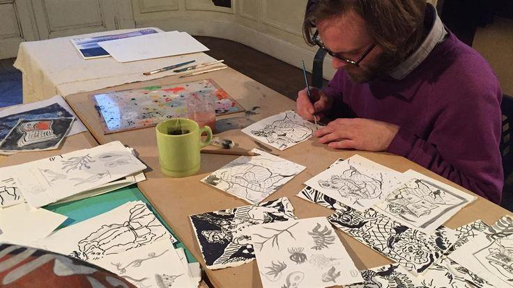 Christian Newby exhibirá hoy en un estudio abierto sus obras realizadas en Buenos Aires
