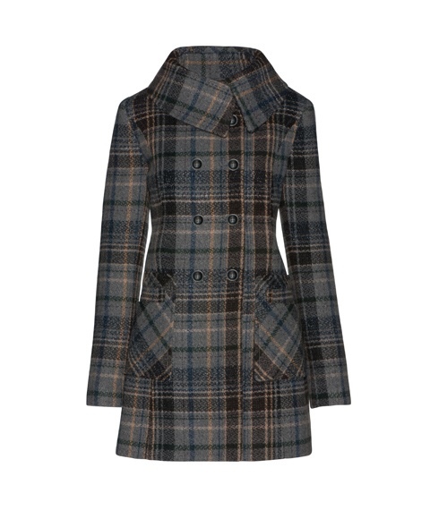 CUE Check Pocket Detail Coat  This Italian wool blend fabric is exclusive to Cue, and woven in a soft grey check design with subtle colour highlights. Made in Australia. $495        i want this - i'll just sob myself to sleep with longing