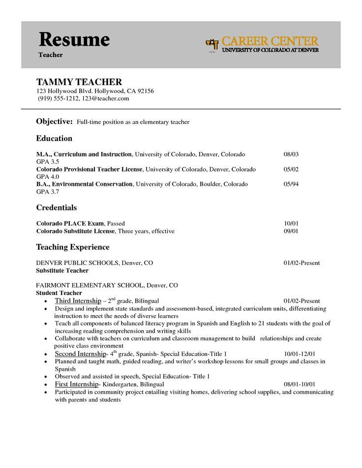 resume interesting teacher sample idea with teaching experience
