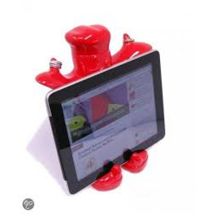 Claude - Kookboek & Ipad houder - Rood - make my day