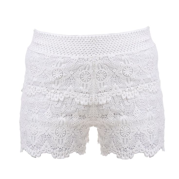 SHORTS ΙΝ WHITE COLOR ONE SIZE - Trousers-Shorts - Clothes