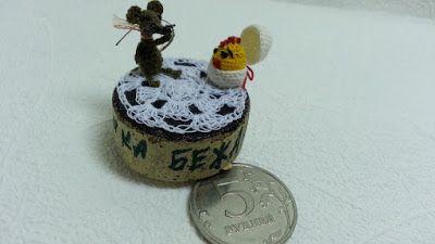 """Бисероплетение. Diy. Handmade.: Моя новая работа """"Мышка бежала, хвостиком махнула...."""