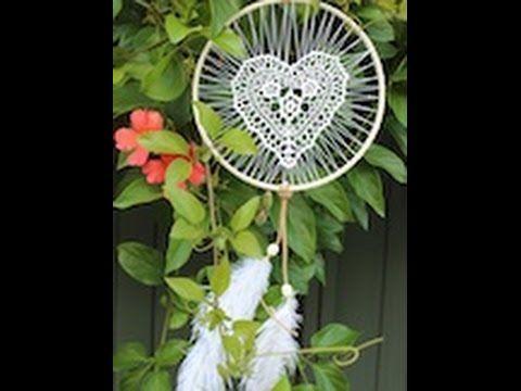 DIY heart doily dreamcatcher - YouTube