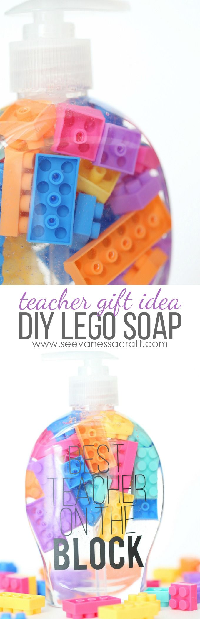 """Best Teacher On The Block"" LEGO Soap - Easy Back to School Gift with @cricut #CricutMade #ad"