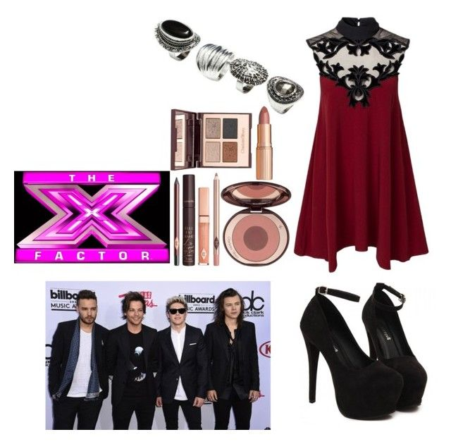 """""""Watching One Direction perform on the X Factor as Louis girlfriend"""" by desdall ❤ liked on Polyvore featuring H&M and Charlotte Tilbury"""