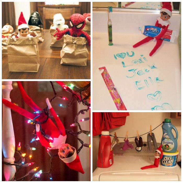 100+ GENIUS ELF-ON-THE-SHELF IDEAS FOR KIDS- so many ideas I'd never seen!