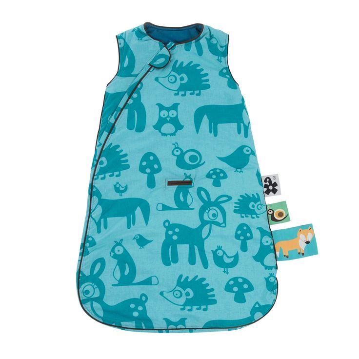 Babyschlafsack Forest Boy türkis-blau für Jungs von sebra Interior