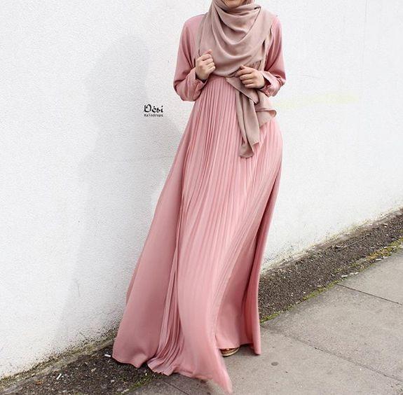 Pinterest: @eighthhorcruxx. Blush pink abaya