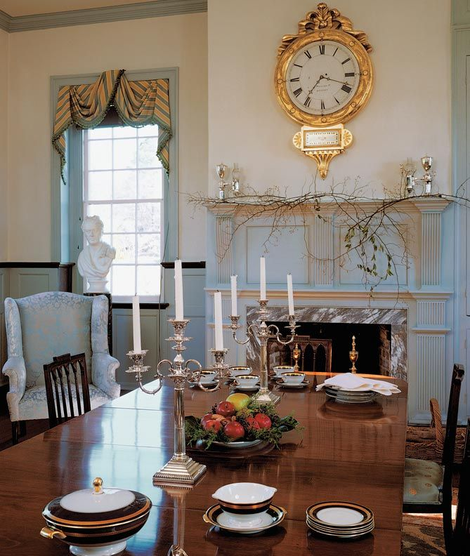 933 best images about plantation interiors on pinterest for Period dining room ideas
