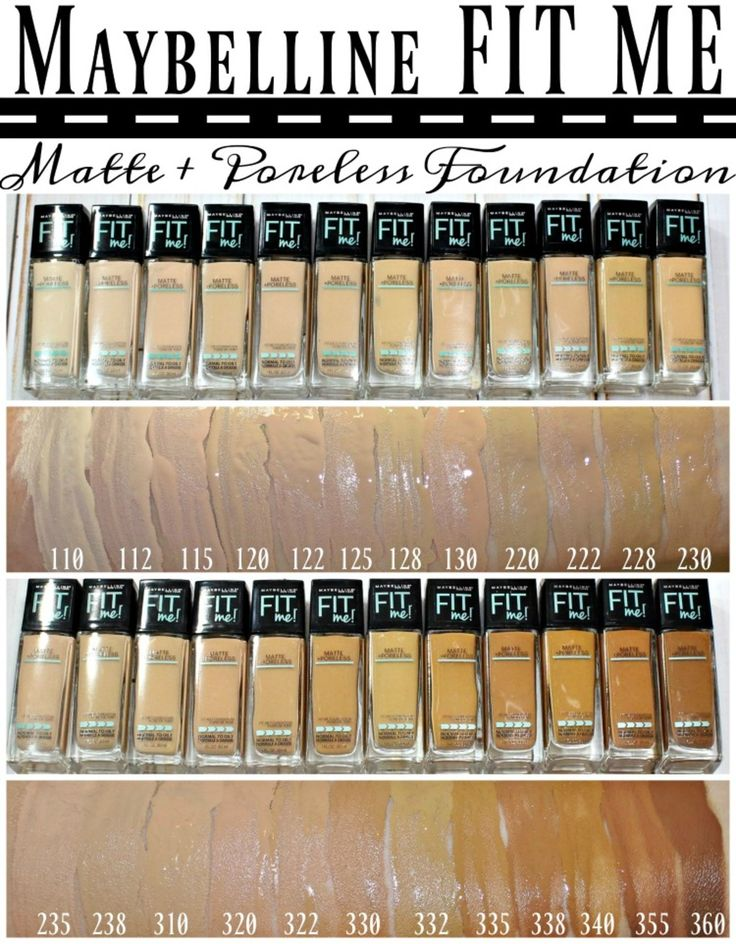What Foundations Do Makeup Artists Use: Maybelline® FIT ME!® Matte + Poreless Foundation & Powder
