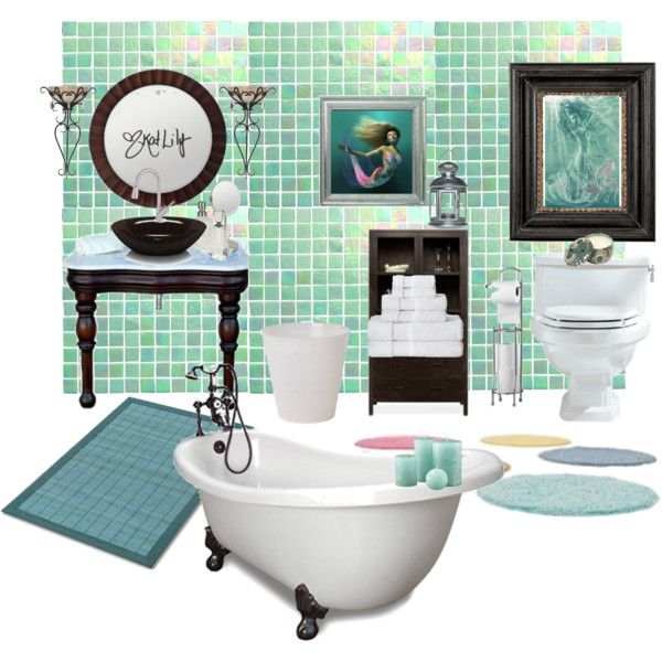Mermaid Bathroom By Katlily On Polyvore