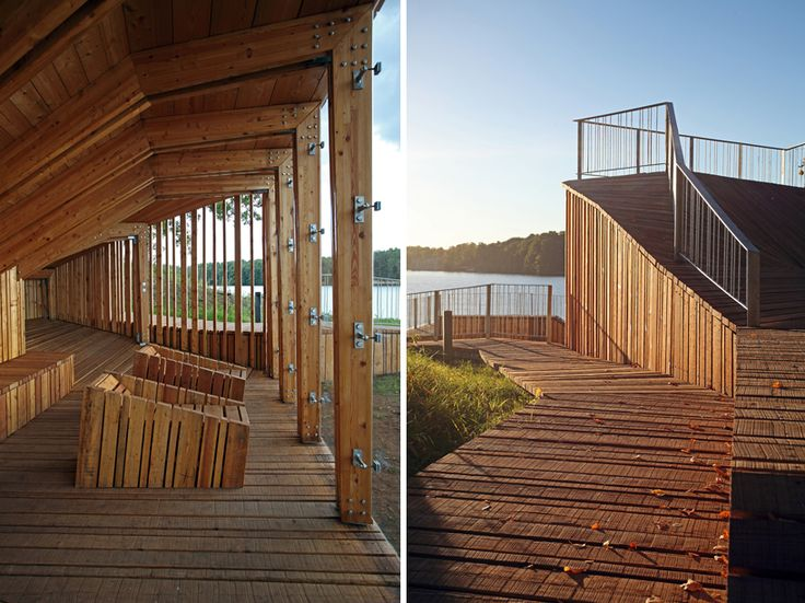 view terrace + pavilion merges with the garden of destiny in latvia
