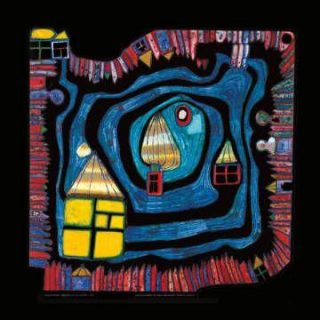 Friedensreich Hundertwasser - We live in Paradise - Kunstdruck Poster günstig kaufen - auch auf Rechnung!
