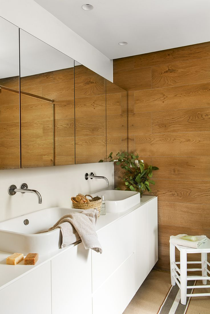 más de 25 ideas increíbles sobre pared de madera para baño en