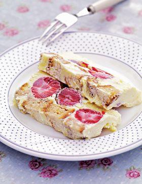 Hvid chokolademarquise med jordbær