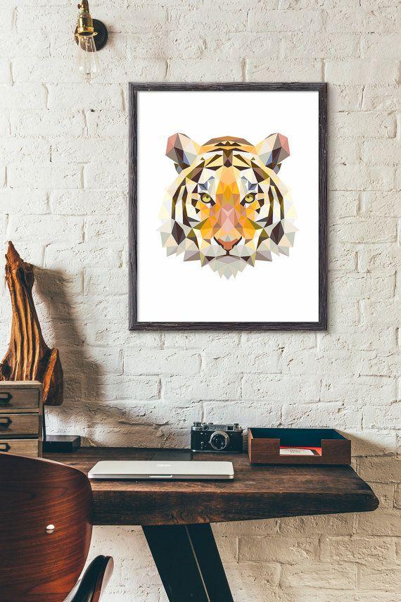 Polygonal Tiger Etsy listing at https://www.etsy.com/listing/246179759/polygonal-tiger-poster-animal-print