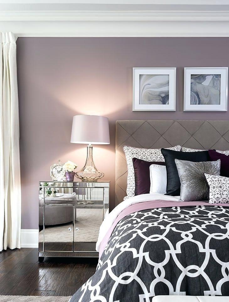 Schlafzimmer Wandfarbe Ideen Wandgestaltung Beige Lila