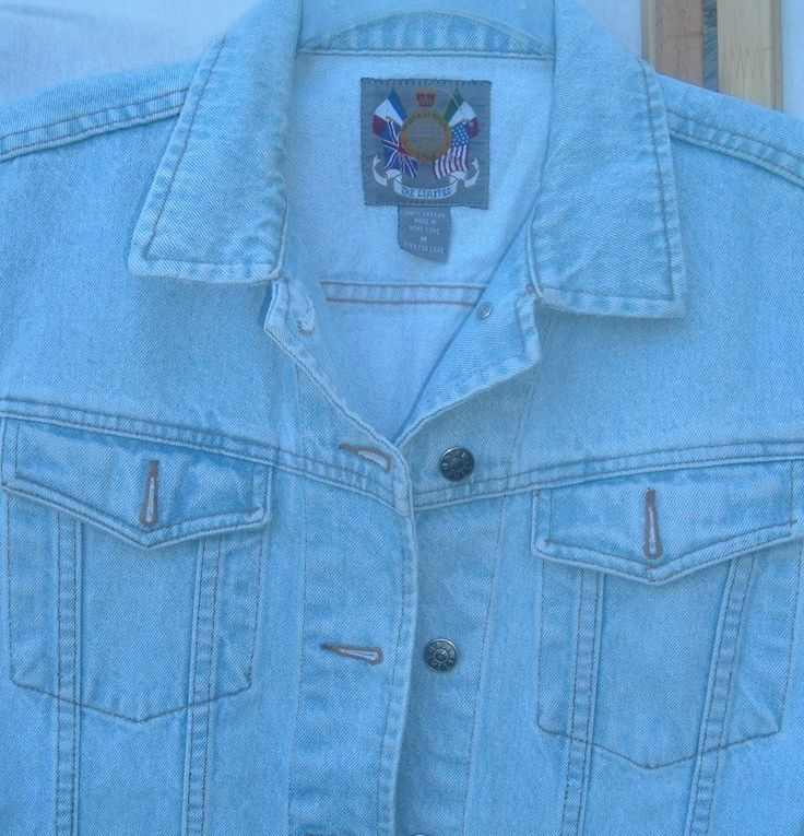 The Limited International Style woman's denim Sleeveless top SZ M cool label! #TheLimited #ButtonDownShirtvest