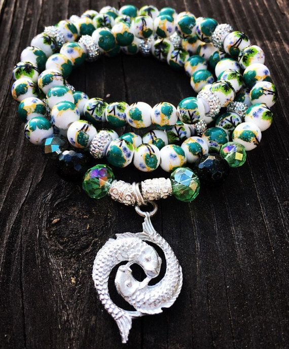 Hey, I found this really awesome Etsy listing at https://www.etsy.com/listing/262285982/pisces-wrap-braceletnecklace