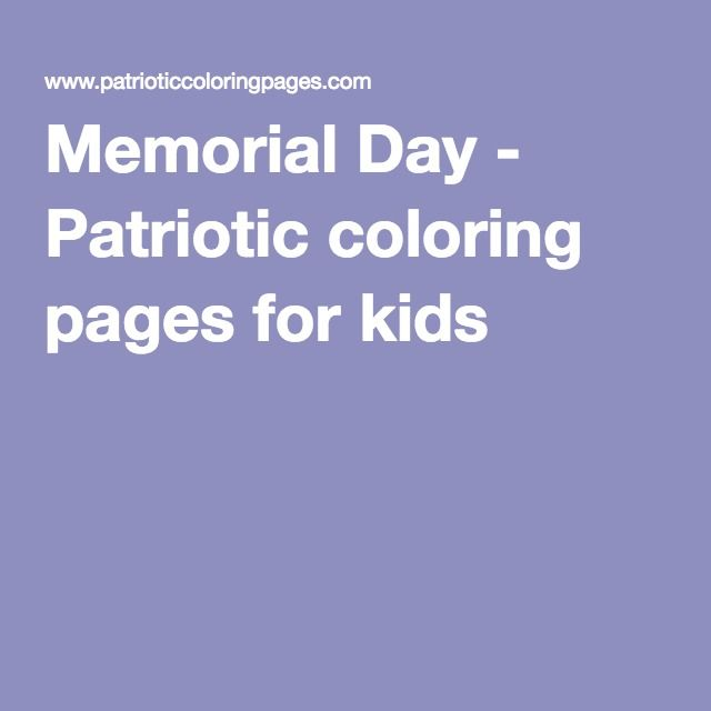 crayola memorial day coloring pages