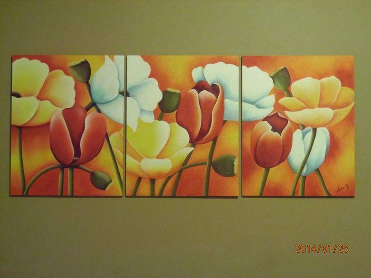 Tulipanes y amapolas