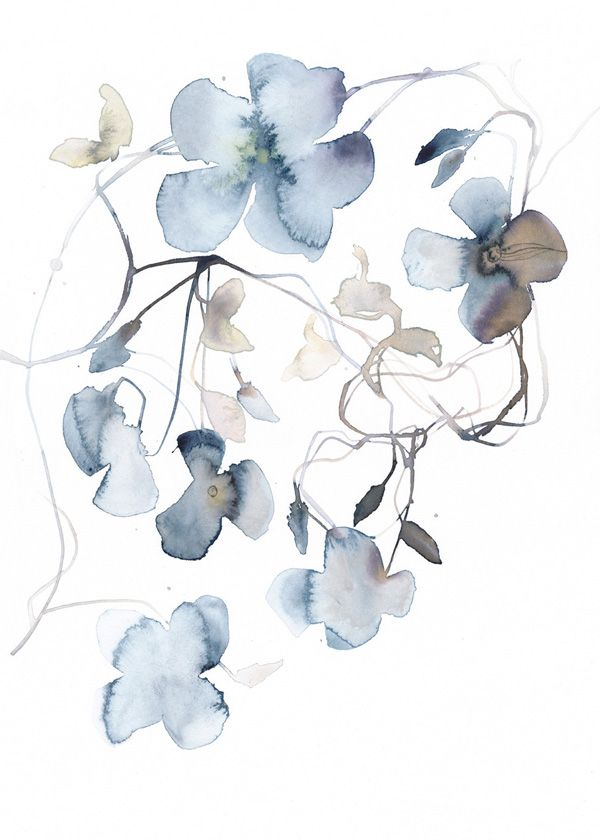 Watercolor from 12 Flower Calendar 2017