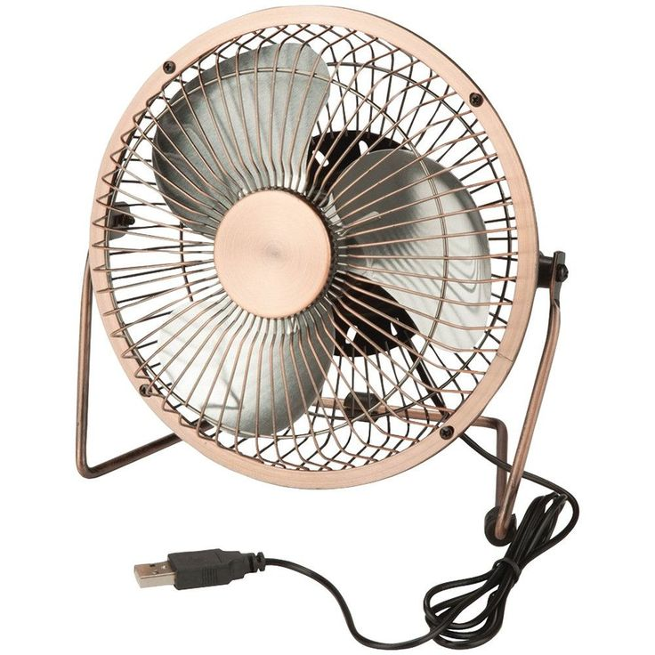 Honey-can-do Usb-powered Desk Fan (bronze)
