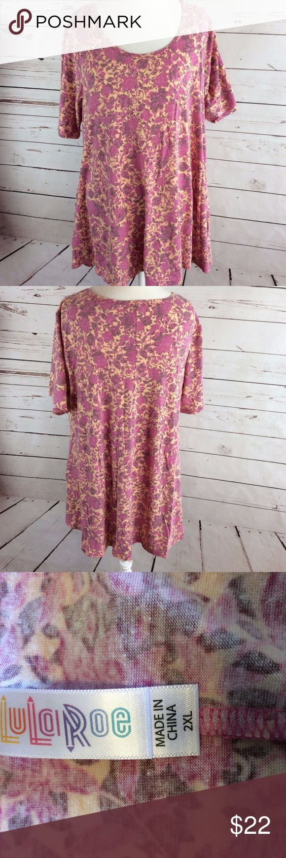 Lularoe Womens T Shirt 2XL Tee Soft Yellow & Multi 100% money back guarantee, free returns and excellent customer service.  Your item will ship within 24 hours after payment is received (excluding weekends and Holidays)  Please let us know if you have any questions.   Lularoe Womens Classic Tee 2XL Soft Yellow & Multicolored Floral  XX-Large  Location: H5  Our items are all from a pet free, smoke free home.  Items are purchased locally or donated so we are not aware if they have formally…