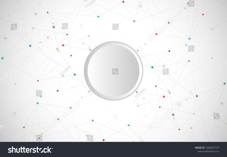Geometric abstract background with connected dots and lines. Molecular structure and communication. Digital technology background and network connecti…