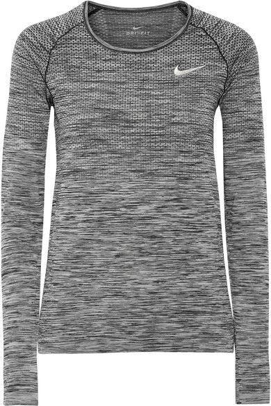 Nike - Dri-fit Stretch Top - Gray - medium