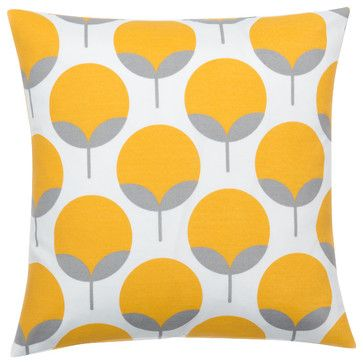 Caroline Sunshine Yellow Pillow Cover - contemporary - Pillowcases And Shams - Look Here Jane, LLC