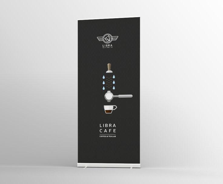 Roll up banner Libra Tea & Coffe C.o.