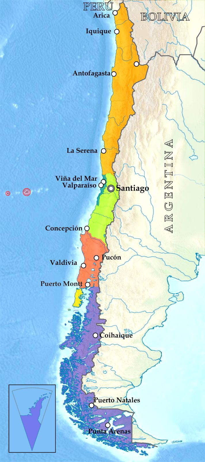 a geography of chile World facts index chile geography map of chile in a classic book on the natural setting and people of chile, benjamín subercaseaux zañartu, a chilean writer, describes the country's geography as loca (crazy.