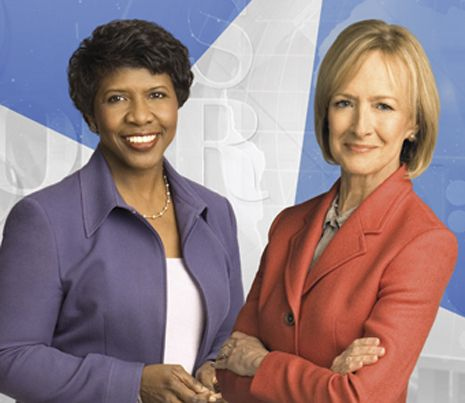 PBS NEWSHOUR's Judy Woodruff and Gwen Ifill.  Unmatched quality, balance, intelligence, and integrity.