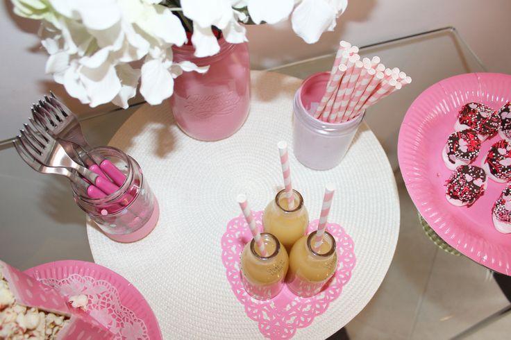 DIY pink maison jar