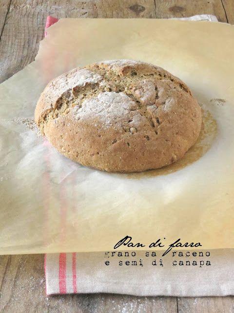 SenzalatteSenzauova: Pan di farro, farina di grano saraceno e semi di c...