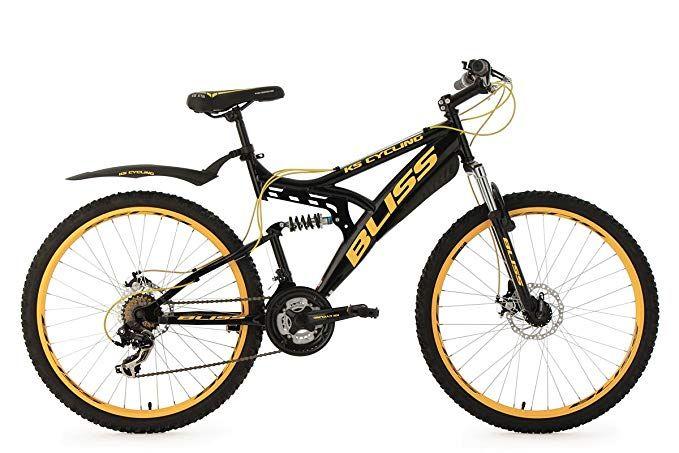 Ks Cycling Fahrrad Mountainbike Fully Bliss Schwarz Gold 26 Zoll