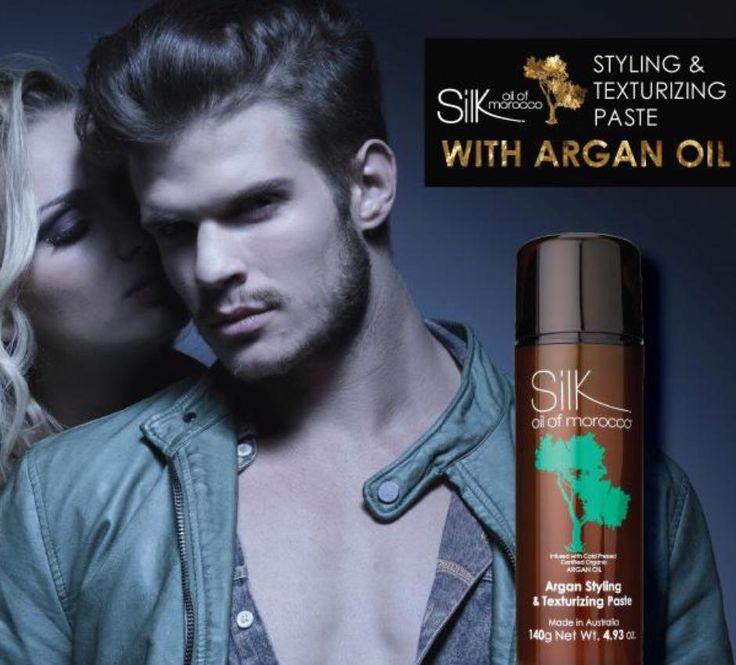Silk Argan Texturizing Paste for Men & Women - http://www.silkoilofmorocco.com.au/product/argan-styling-texturizing-paste/