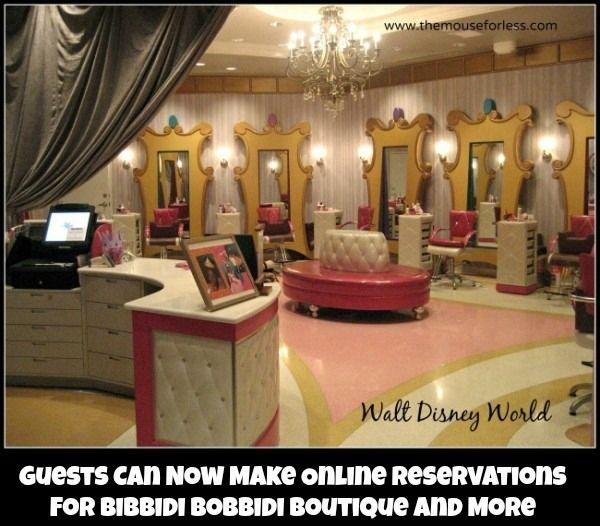 Guests Can Now Make Online Reservations For Bibbidi Bobbidi