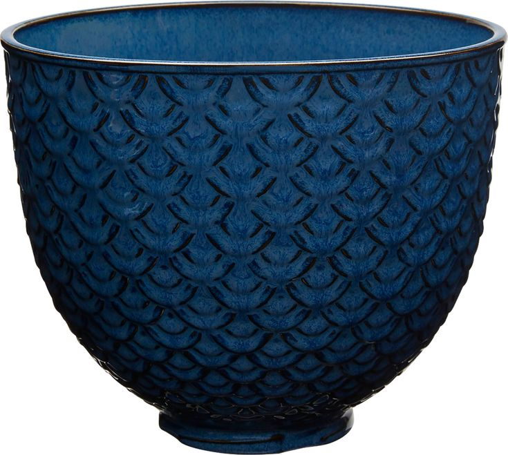 Kitchenaid 5quart textured ceramic bowl blue mermaid lace