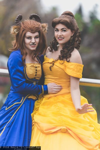 The Beast and Belle from Disney's Beauty and the Beast | SacAnime Winter 2018, Photo by DTJAAAAM