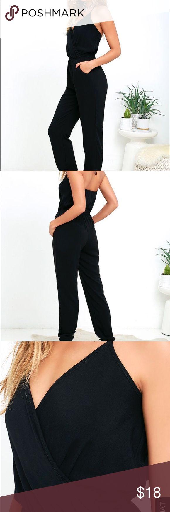 Black Romper Black Romper from Lulu, very comfortable Lulu's Pants Jumpsuits & Rompers