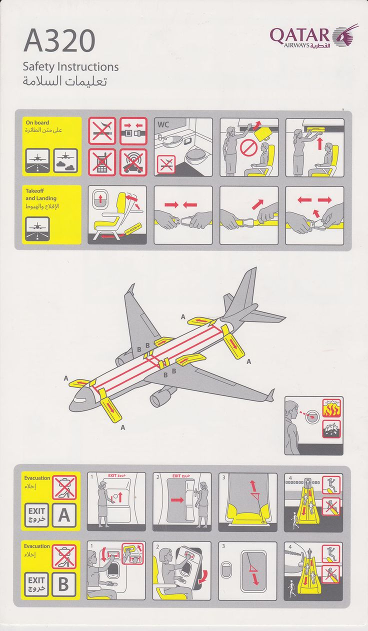 Best Safety Cards Images On   Safety Aircraft And